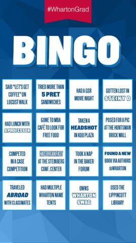 #WhartonGrad_Bingo